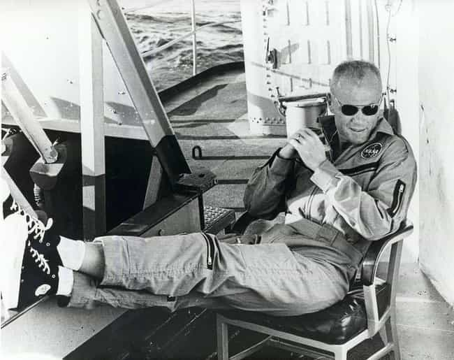 John Glenn Relaxes In Chuck Ta... is listed (or ranked) 1 on the list Vintage Pictures Of US Astronauts Hanging Out Being Chill As Hell