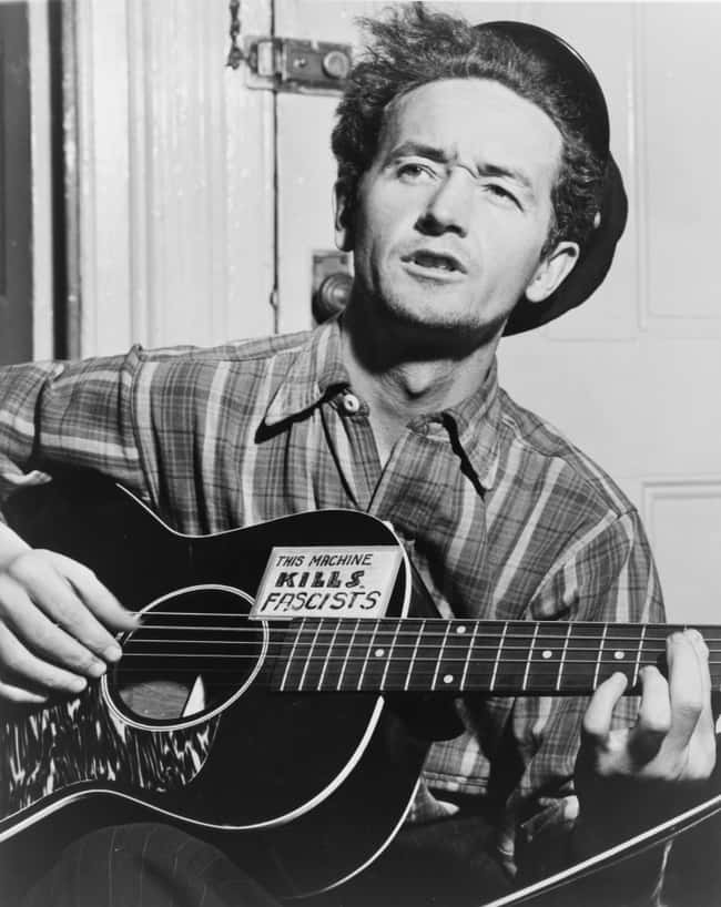 In December 1950, Woody Guthri is listed (or ranked) 5 on the list Donald Trump's Dad Was So Racist That Woody Guthrie Wrote A Song About How Racist He Was