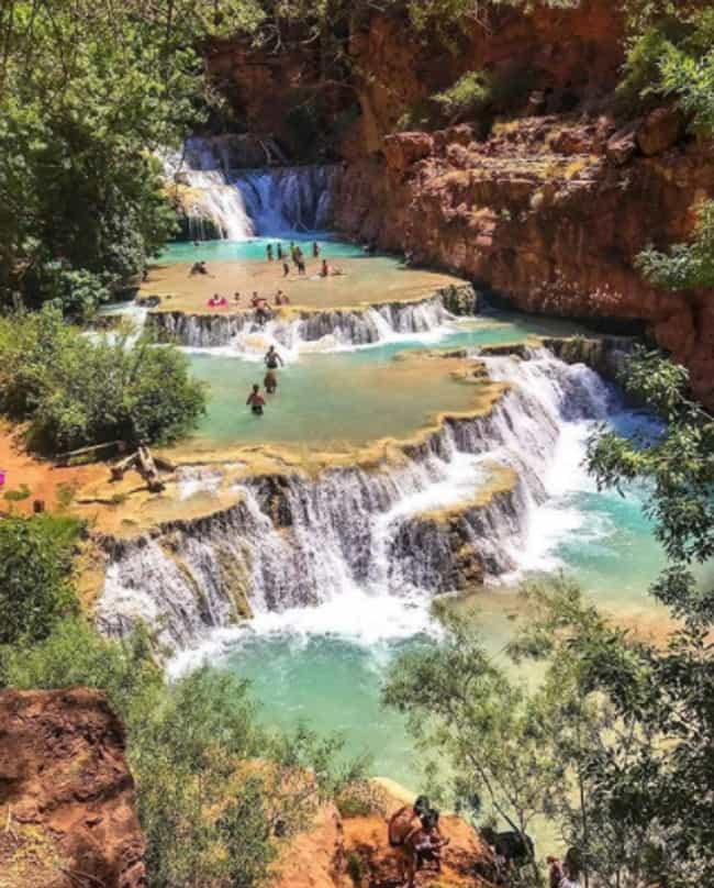Beaver Falls - Supai, Arizona is listed (or ranked) 1 on the list Secret Natural Swimming Holes To Add To Your Travel List