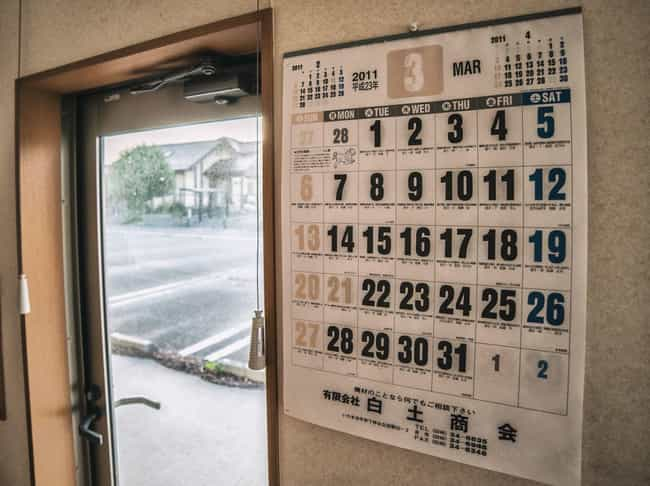 A Calendar That Never Advanced is listed (or ranked) 4 on the list Haunting Images of Fukushima, The Abandoned Nuclear Radiation Ghost Town