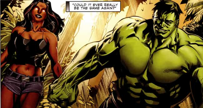 Hulk And Red She-Hulk is listed (or ranked) 2 on the list Marvel Superhero Relationships That Are Way Healthier Than They Seem
