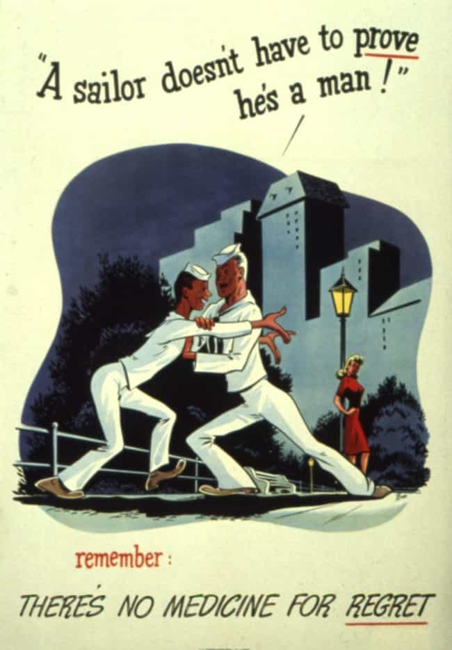 You Don't Need Her! is listed (or ranked) 4 on the list 24 Ridiculously Over The Top WWII-Era STD Prevention Posters