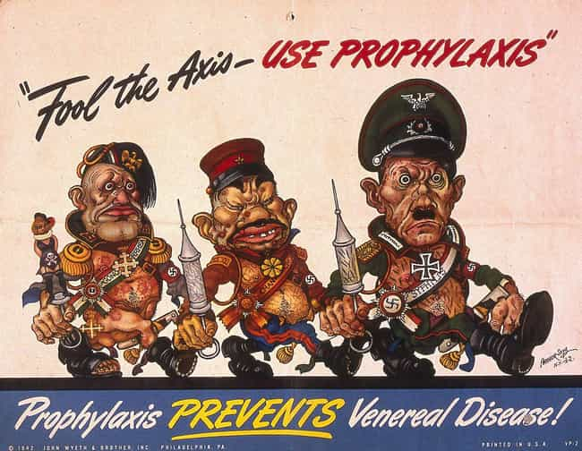 The Enemy Is Disease, Disease ... is listed (or ranked) 2 on the list 24 Ridiculously Over The Top WWII-Era STD Prevention Posters