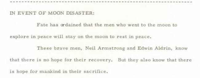The Speech Would Have Been Del... is listed (or ranked) 3 on the list Read The Transcript Nixon Prepared In Case Neil Armstrong And Buzz Aldrin Got Stranded On The Moon
