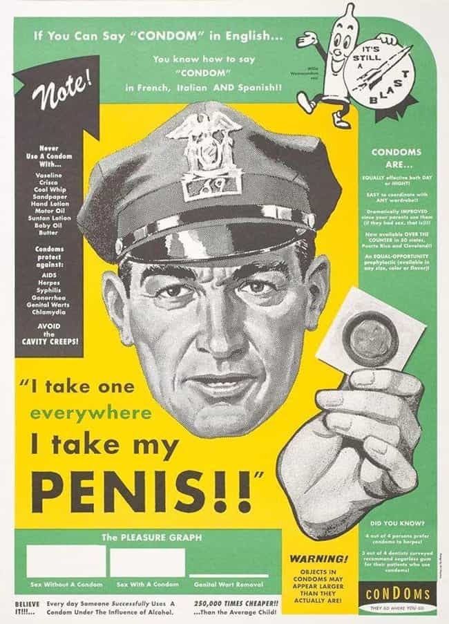 Protect The Little Pants Inhab... is listed (or ranked) 1 on the list 24 Ridiculously Over The Top WWII-Era STD Prevention Posters