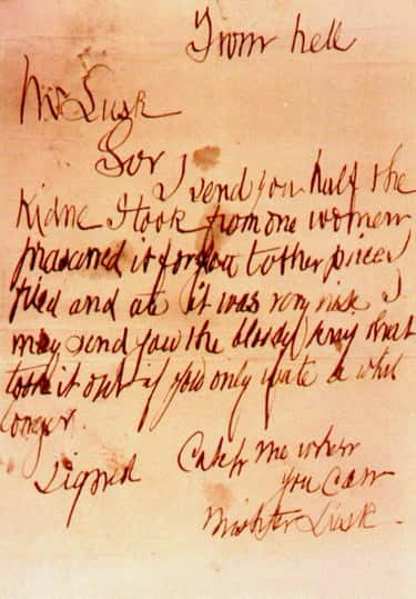Jack The Ripper's Handwriting  is listed (or ranked) 2 on the list How To Tell If Someone's A Killer Based On Their Handwriting