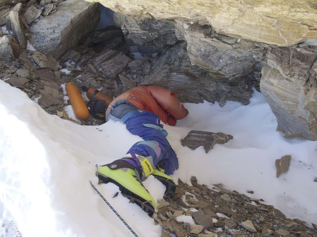 "He Is A Trail Marker For Other is listed (or ranked) 4 on the list The Tragic Story of ""Green Boots,"" The Frozen Body On Mt. Everest That Hikers Use As A Checkpoint"
