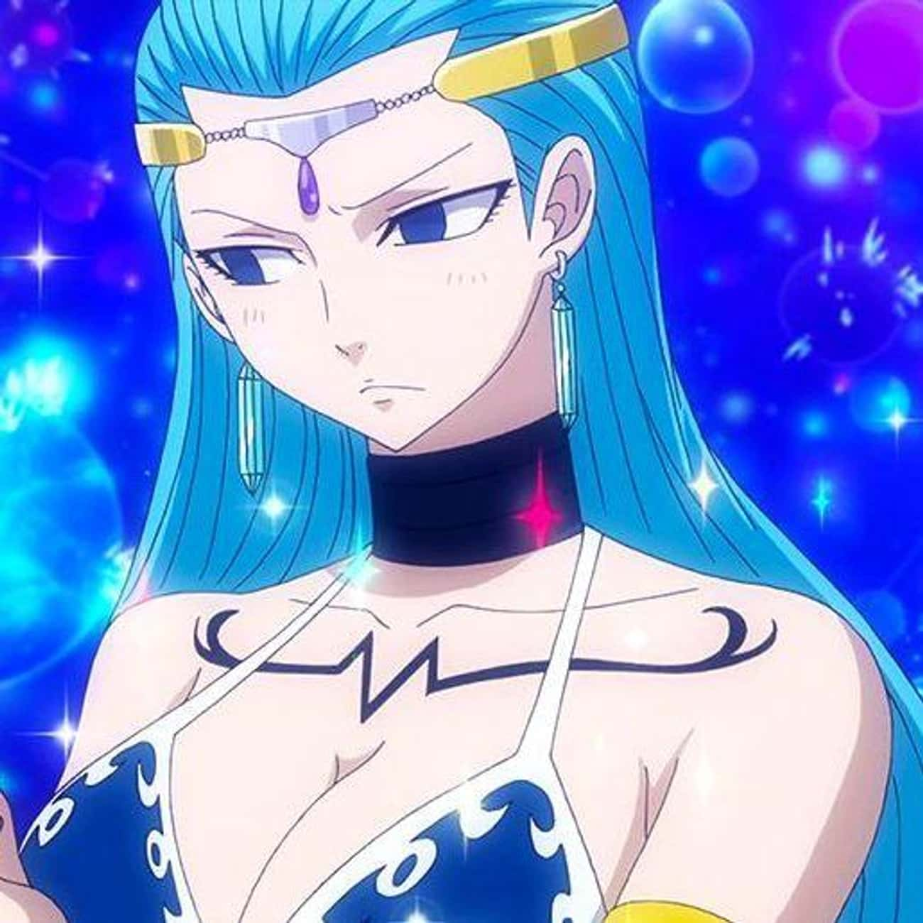 Aquarius is listed (or ranked) 3 on the list The Best Anime Characters Who Wear Chokers