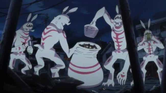 Bunny Beasts - Blood-C is listed (or ranked) 3 on the list 15 Scary Anime Monsters That Are Total Nightmare Fuel