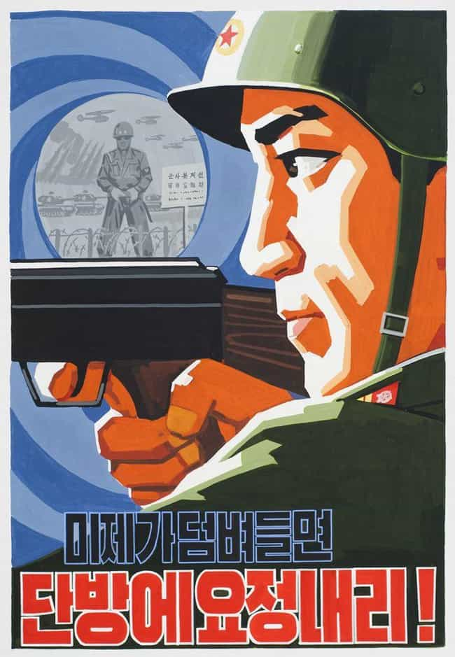 If The US Will Come We Will St... is listed (or ranked) 6 on the list 18 Utterly Ridiculous North Korean Propaganda Posters (And What They Say)