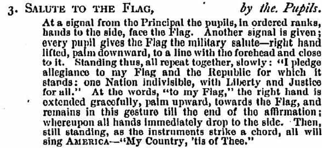 He Wrote The Pledge In Less Th... is listed (or ranked) 4 on the list Turns Out The Pledge Of Allegiance Was A Marketing Ploy Designed To Sell As Many Flags As Possible