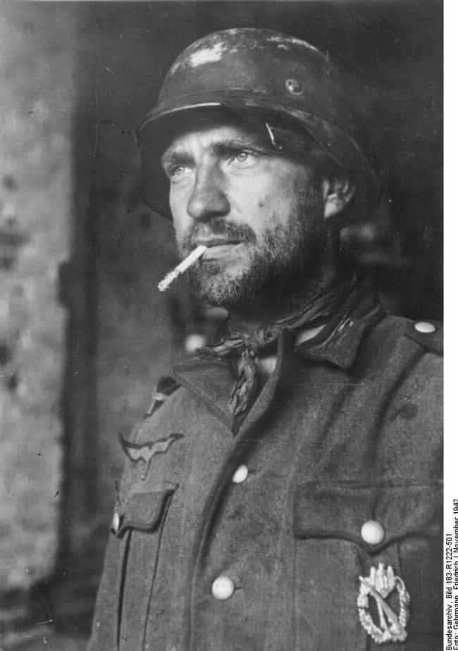 German Soldier With The ... is listed (or ranked) 3 on the list 15 Harrowing Photos of Soldiers In Complete Shell Shock