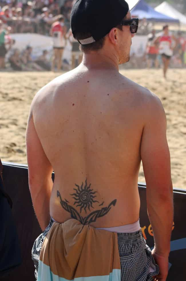 A Well-Placed Bro Tramp Stamp is listed (or ranked) 4 on the list Basic Bro Tattoos That Make Spotting Bros In The Wild Even Easier