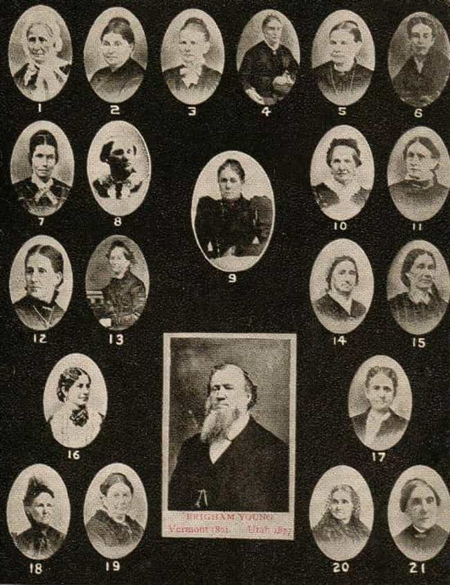 Brigham Young Had 55 Wives is listed (or ranked) 1 on the list 13 Strange Facts About The Early Days Of Mormonism