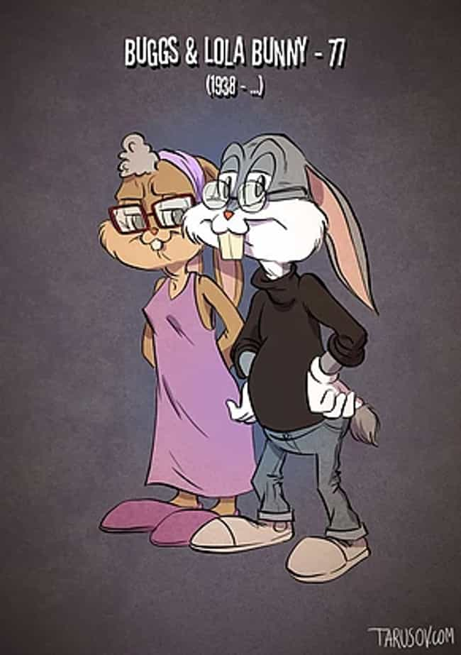 Bugs And Lola Bunny is listed (or ranked) 1 on the list Here's What 23 Of Your Favorite Cartoon Characters Will Look Like In Their Old Age