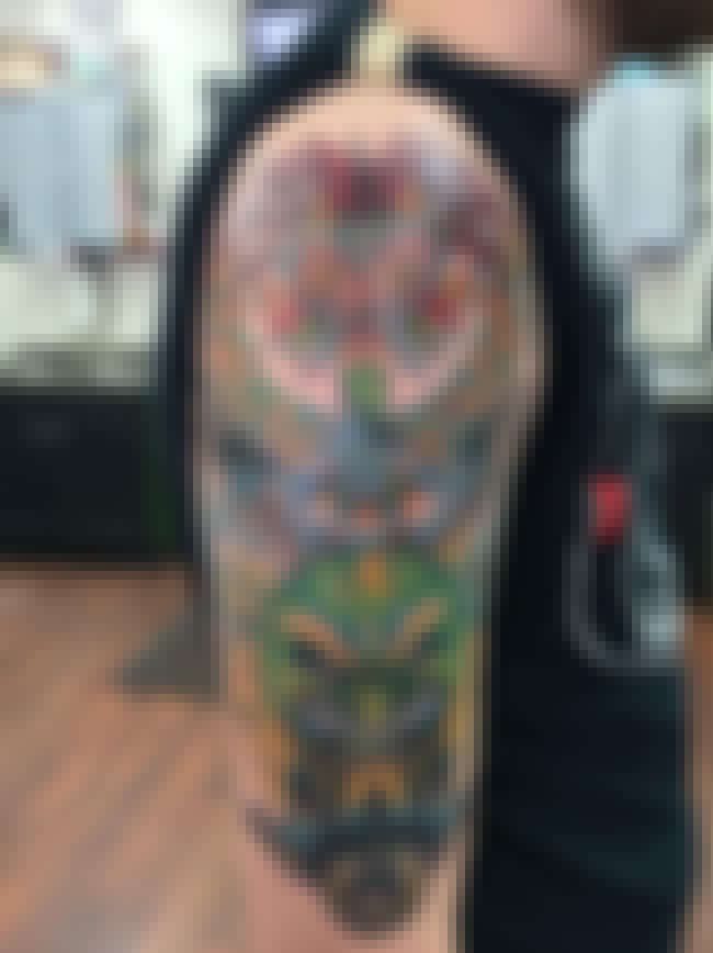 Majora's Mask Half Sleeve is listed (or ranked) 3 on the list 22 Supremely Cool Nintendo Tattoos Guaranteed To Inspire Your Inner Geek