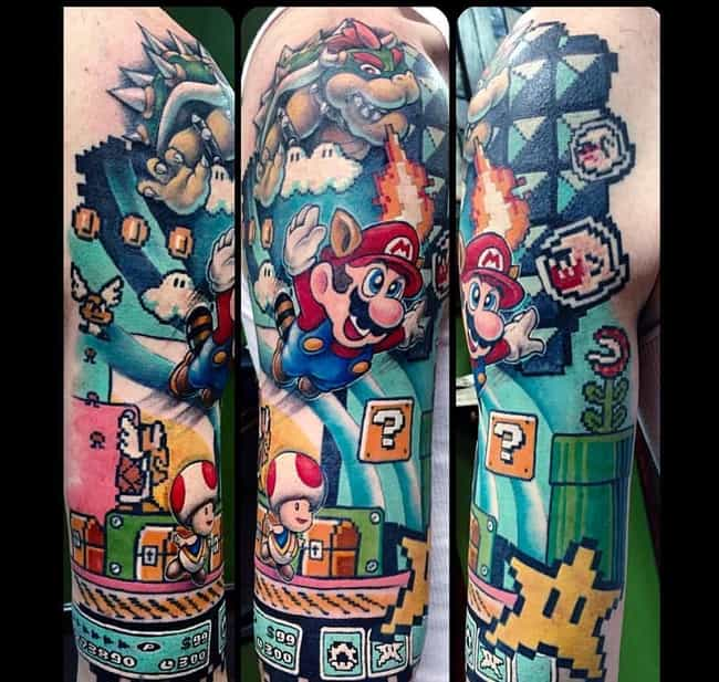 Super Mario Bros. 3 is listed (or ranked) 1 on the list 22 Supremely Cool Nintendo Tattoos Guaranteed To Inspire Your Inner Geek