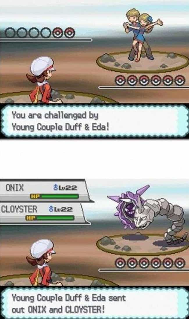 This Frisky Trainer Couple Hav... is listed (or ranked) 4 on the list 19 Insanely Dirty Jokes In Pokémon You Definitely Missed As A Kid