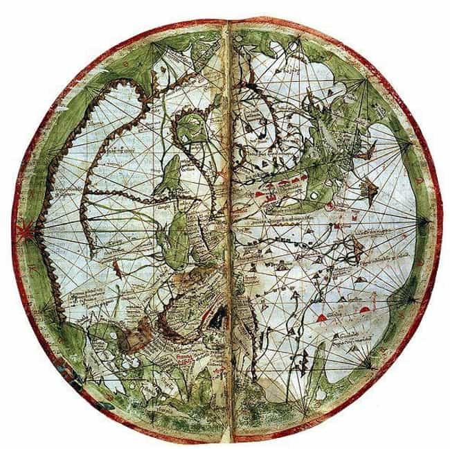 A 14th Century World Map... is listed (or ranked) 4 on the list Here's What Map Makers Originally Thought The World Looked Like Throughout History