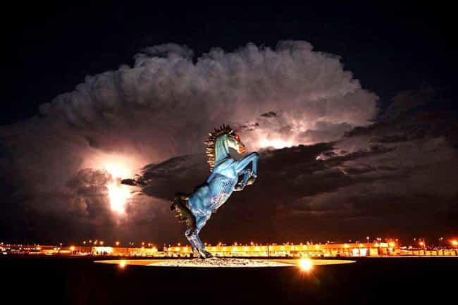 The Blue Murder Horse Sculptur... is listed (or ranked) 4 on the list Denver International Airport Is A Supposed Hotbed Of Satanic And Illuminati Activity