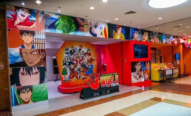 J-World Tokyo is listed (or ranked) 3 on the list 14 Locations in Japan You Must Visit If You're An Anime Fan