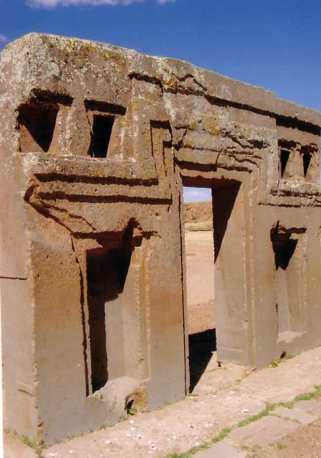"""The Gate Is Made From One Gian... is listed (or ranked) 3 on the list This """"Gate of the Sun"""" Monolithic Stone Monument Has Baffled Experts For Centuries"""