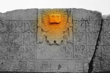"""No One Is Quite Sure Who Or Wh is listed (or ranked) 2 on the list This """"Gate of the Sun"""" Monolithic Stone Monument Has Baffled Experts For Centuries"""