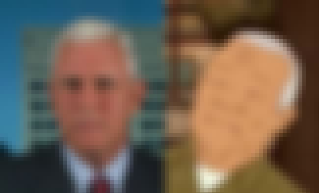 Mike Pence And Hank Hill's... is listed (or ranked) 1 on the list Political Figures Who Look Exactly Like Cartoon Characters
