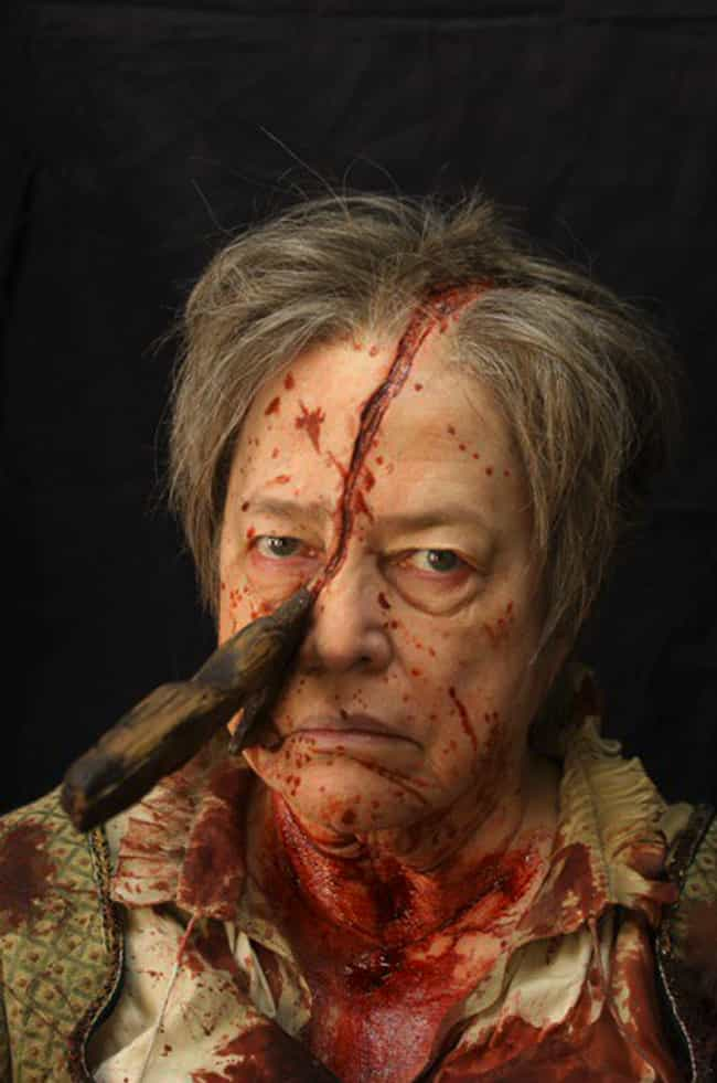 The Butcher Seems None Too Hap... is listed (or ranked) 3 on the list Behind The Scenes Photos From American Horror Story You've Probably Never Seen Before