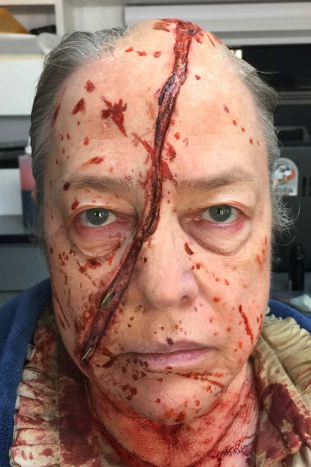 Kathy Bates Plays An Actor Pla is listed (or ranked) 3 on the list Behind The Scenes Photos From American Horror Story You've Probably Never Seen Before