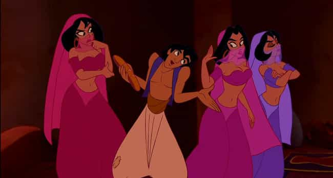 The Real Reason Aladdin Was Ch... is listed (or ranked) 3 on the list 22 Wildly Dirty Jokes In Disney Movies Kids Were Supposed To Miss