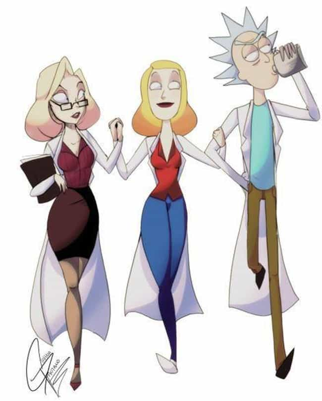 Grown Up Beth's Dream Come Tru... is listed (or ranked) 3 on the list Fan Art Of Rick Sanchez And His Wife Guaranteed To Break Your Heart