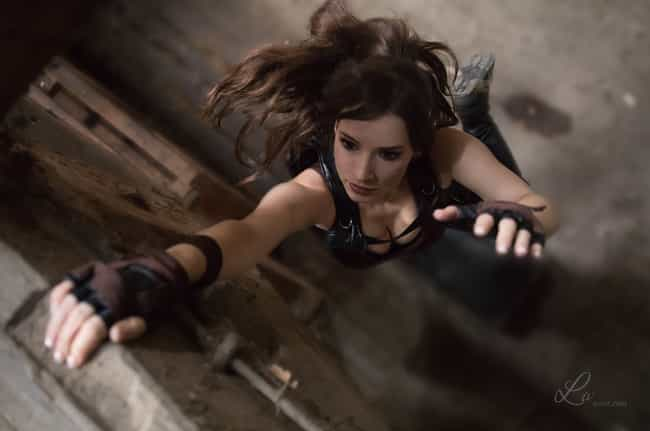 This Lara Croft Demonstr... is listed (or ranked) 1 on the list Spectacular Tomb Raider Cosplays That Do Lara Croft Justice