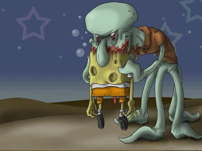 Spoiler Alert: Spongebob... is listed (or ranked) 3 on the list 18 Pieces Of Spongebob Fan Art That Took Things WAY Too Far