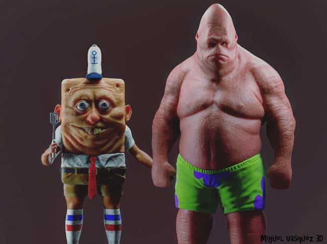 Spongebob In The Flesh: ... is listed (or ranked) 1 on the list 18 Pieces Of Spongebob Fan Art That Took Things WAY Too Far
