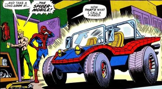 The Spider-Mobile Has A Bizarr... is listed (or ranked) 1 on the list The Ridiculous History Of The Spider-Mobile