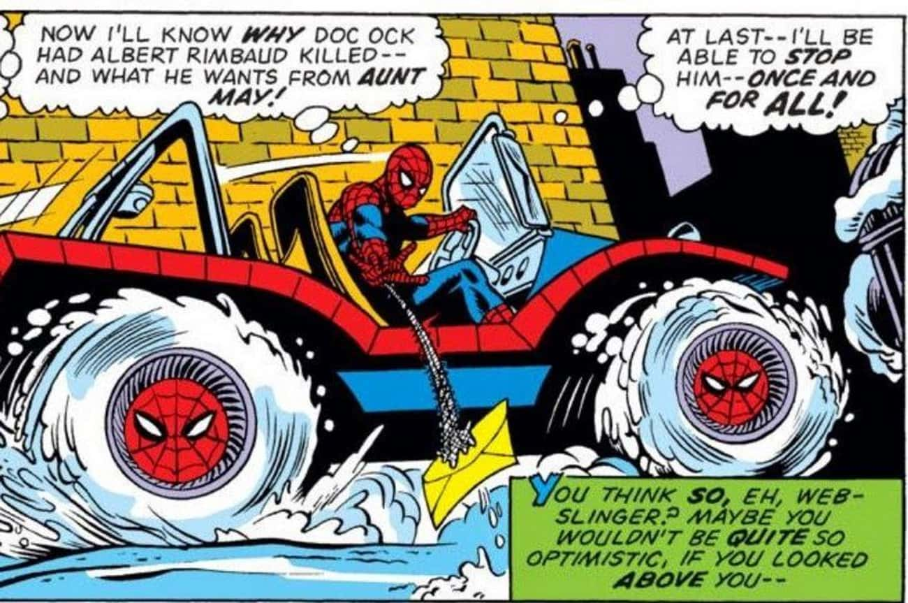Spider-Man's Financial Trouble is listed (or ranked) 2 on the list The Ridiculous History Of The Spider-Mobile