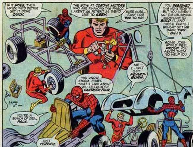 The Human Torch Helped Build I... is listed (or ranked) 3 on the list The Ridiculous History Of The Spider-Mobile