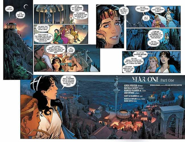 Year One is listed (or ranked) 4 on the list The Best Wonder Woman Storylines in Comics