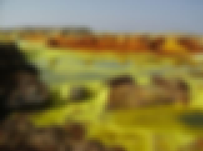 Ethiopian Danakil Depression Z... is listed (or ranked) 4 on the list These Are The Creepiest Natural Wonders You Can Actually Visit
