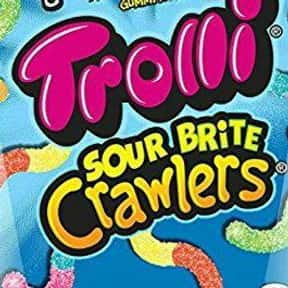 Trolli Sour Brite Crawlers Gum is listed (or ranked) 6 on the list The Most Delicious Sour Candy