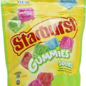 Starburst Gummies Sours Candy is listed (or ranked) 18 on the list The Most Delicious Sour Candy