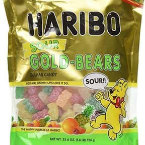 Haribo Sour Gold Bears is listed (or ranked) 14 on the list The Most Delicious Sour Candy