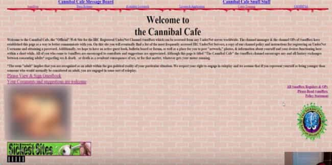 Forums For Cannibals is listed (or ranked) 4 on the list The Most Disturbing Message Boards Hiding In The Darkest Corners Of The Internet