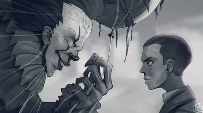 Pennywise Meets His Match is listed (or ranked) 2 on the list Refreshingly Cool Fan Art Of Eleven From Stranger Things