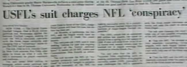 The USFL Sued The NFL And Won ... is listed (or ranked) 4 on the list Reminder: Donald Trump Tried To Destroy The NFL 30 Years Ago—And Failed