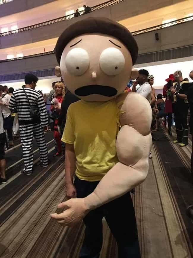 Armothy And Morty Back T... is listed (or ranked) 2 on the list Rick And Morty Cosplay So Good, It'll Convince You There Are Ricks In Our Dimension