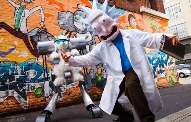 This Snuffles And Rick Cosplay... is listed (or ranked) 4 on the list Rick And Morty Cosplay So Good, It'll Convince You There Are Ricks In Our Dimension