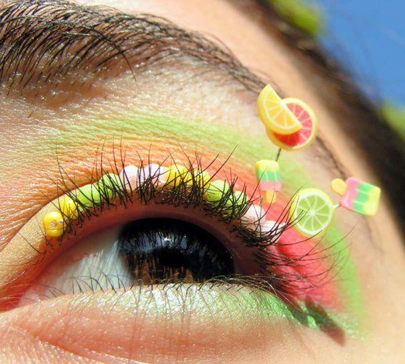 Bring In Summer With a Little  is listed (or ranked) 4 on the list People Are Gluing Objects To Their Eyelids For The Perfect Instagram Photo