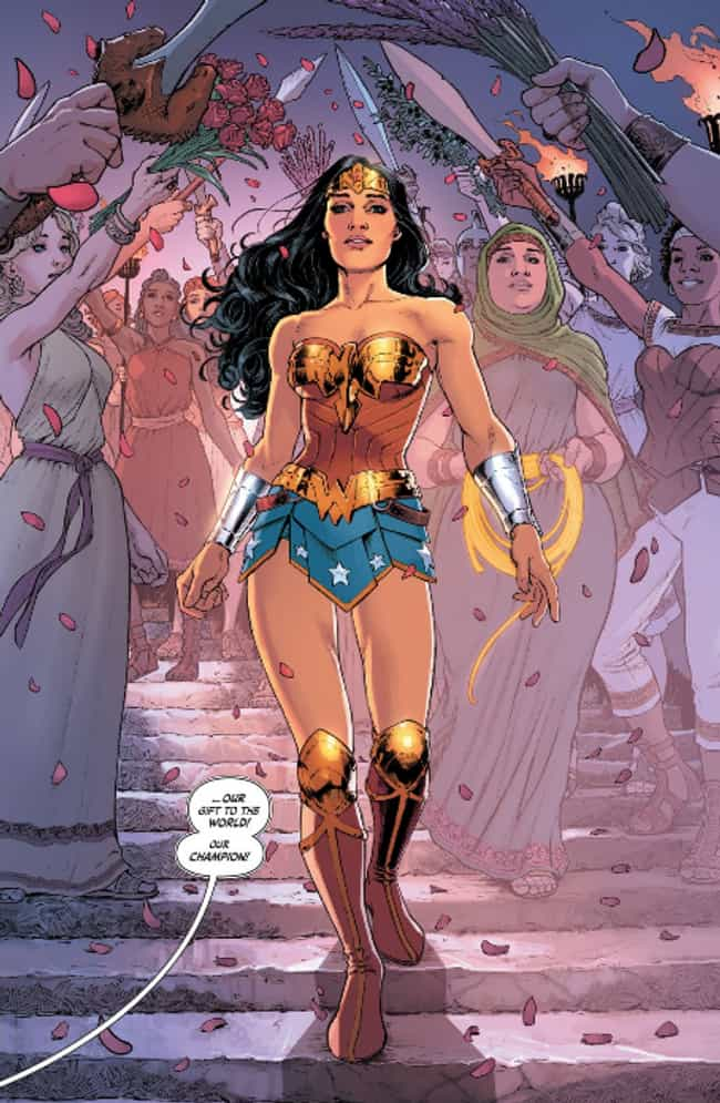 Nicola Scott's DC Rebirth ... is listed (or ranked) 2 on the list Wonder Woman's Costumes From The Comics, Ranked By Practicality